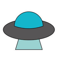 Ufo aliens saucer space vector