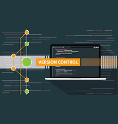 version control git programming script vector image