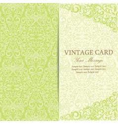 Vintage card green vector