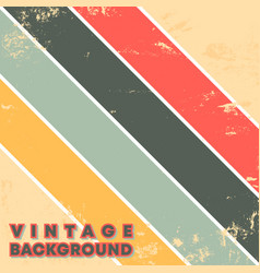 vintage grunge texture background with retro color vector image