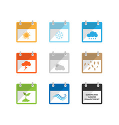 Weather and season flat design calendar icon vector