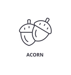 acorn line icon outline sign linear symbol vector image vector image