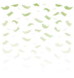 finance concept dollar banknotes money rain vector image vector image