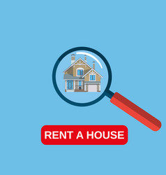 house rent icon vector image vector image