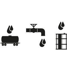 Oil icon vector