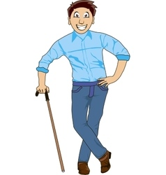Smiling man vector image vector image