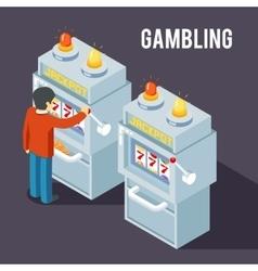 Casino slot machine Using fruit jackpot vector image