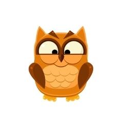 Cross-eyed Brown Owl vector image vector image