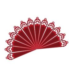 fan flamenco accesory icon vector image
