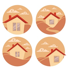 little village vector image vector image