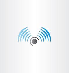 radio waves logo icon vector image