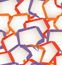 Speech Bubbles Background vector image vector image
