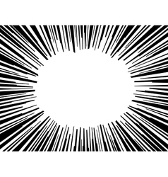 Abstract comic book flash explosion radial lines vector image vector image