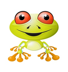 Abstract Frog Isolated on White Background vector image