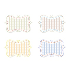 Different Color Retro Tags vector image vector image