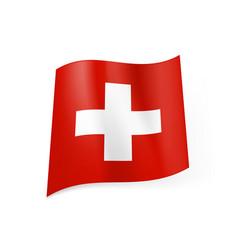 national flag of switzerland white cross in vector image vector image