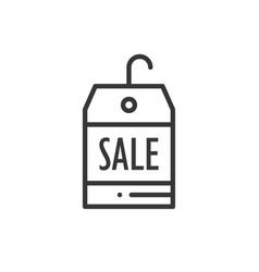 sale price tag thin line icon seasonal discount vector image