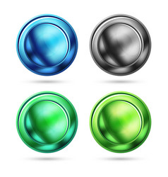 set of blank matte glass glossy sphere circles vector image vector image