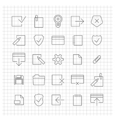 Set of linear universal icons vector image vector image