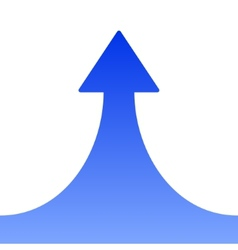 Blue Rising Arrow on White Background vector image vector image
