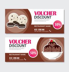 discount voucher set of ice cream template design vector image vector image