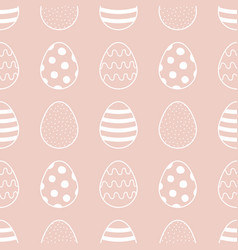 easter eggs seamless pattern background vector image vector image