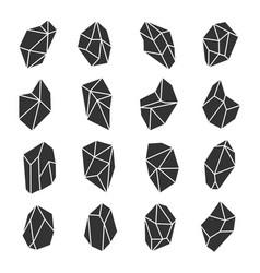 geometric crystals set vector image