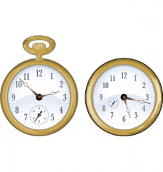 gold watch vector image vector image