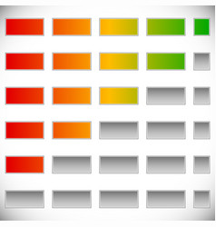 5-step progress step indicators swap colors easily vector