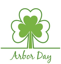 Abor Day Background with Clovers vector