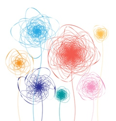 abstract colorful flowers vector image vector image