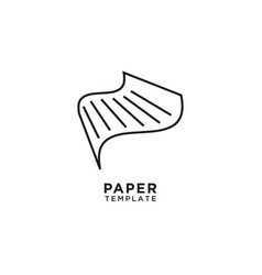 abstract paper line art vector image