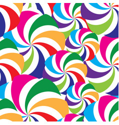 Abstract seamless striped pattern holiday swirl vector