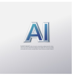 ai artificial intelligence 3d letter text vector image