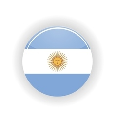 Argentina icon circle vector image