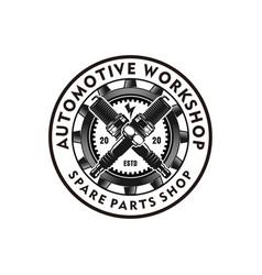 Automotive logo design vintage style logo for car vector