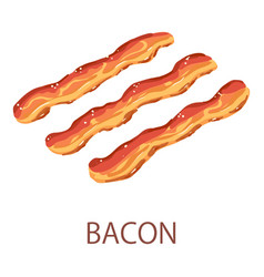 bacon icon isometric style vector image
