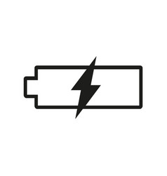 battery icon charge symbol simple flat vector image