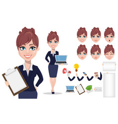 Beautiful business woman in office style clothes vector