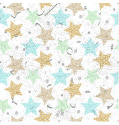 beautiful seamless night sky pattern with vector image