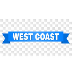 Blue stripe with west coast text vector