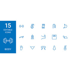 body icons vector image