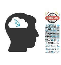 Brainstorming Icon With 2017 Year Bonus Pictograms vector