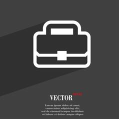 Briefcase icon symbol flat modern web design with vector