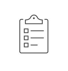 checklist or clipboard line outline icon vector image