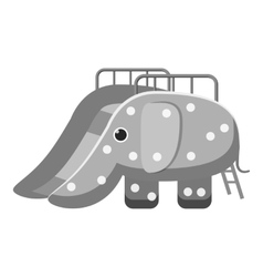 Childrens slide elephant icon vector image