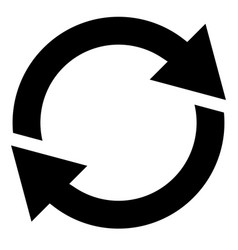 Circular arrow circle arrow icon rotation restart vector