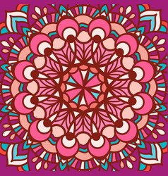 color circular pattern in the square vector image