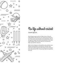 Cricket sport game graphic design concept vector image