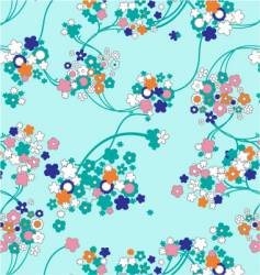 Cute floral background vector